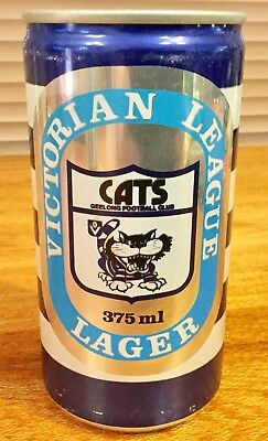 Victorian League Lager. 375ml. C/S Alloy. Geelong Cats Beer Can. 1984