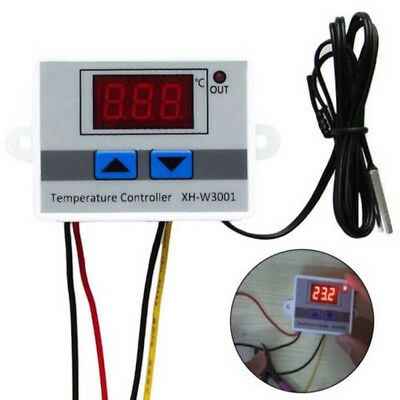 Digital 24/220V LED Temperature Controller 10A Thermostat Control Switch Probe