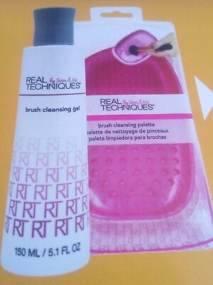 Real Techniques. Deep Cleansing Gel & Brush Cleansing Palette. Neu, OVP!