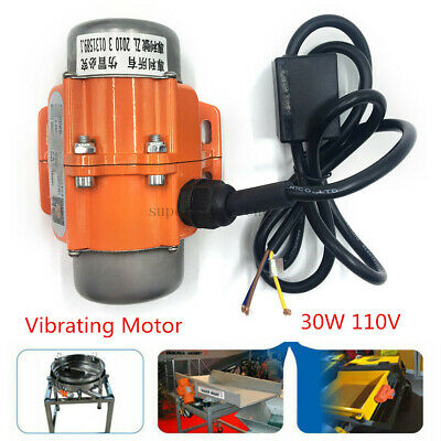 30W 110V Industrial Vibration Motor Single Phase Asynchronous Vibrating 3600rpm