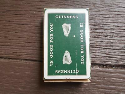 Vintage full set Guinness & 2 jokers Waddington playing cards in box stout lager