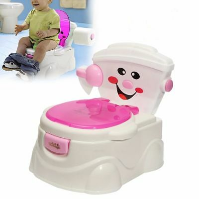 UK Kids Baby Toilet Training Children Toddler Potty Trainer Seat Safe Chair Pink