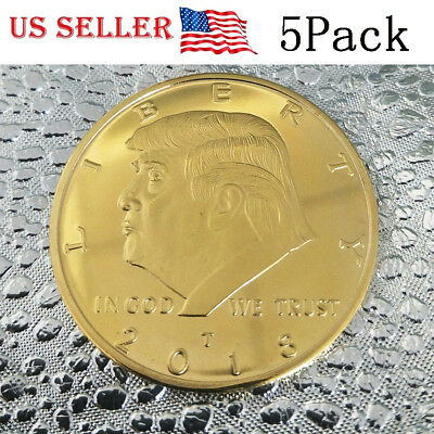 5PCS US President Donald Trump Inaugural Gold Eagle Commemorative Novelty Coin