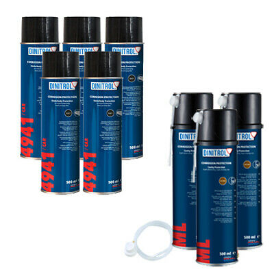 Dinitrol Rust Proofing Kit Aerosol Top Up Pack For Small Car Fiesta Corsa