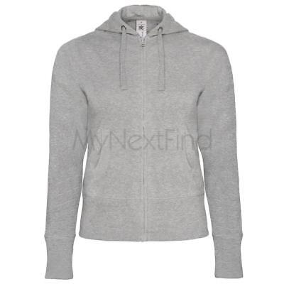 B&C Collection Womens Fashion Hooded Full Zip Zipped Hoodie