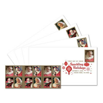 USPS New Sparkling Holidays Keepsake (set of 4)