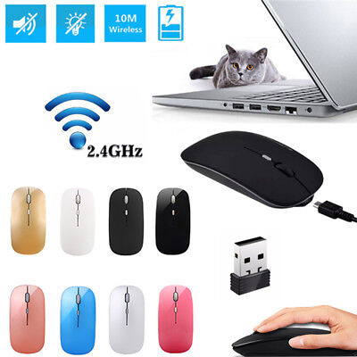 Rechargeable Wireless USB Maus PC Kabellose Mouse Laptop Notebook Funkmaus 2.4GH