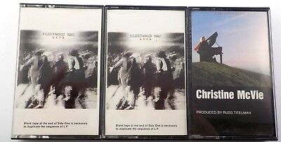 Lot of 3 Music Cassettes Fleetwood Mac Live Double and Christine McVie Solo Albu