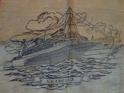 Vintage S S America Cruise Ship WWII Military U S Navy Spy Ship Collectible