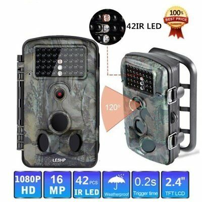 12MP HD Game Trail Camera Hunting Wildlife Video Deer Cam Scouting Infrared SE