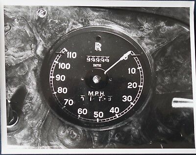 Vintage 1959 Rolls Royce Silver Cloud Speedometer Photo 99999 +  Documentation