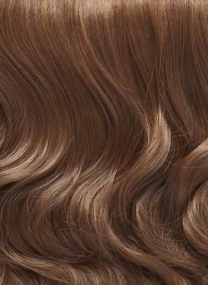 "** Clip In Human Hair Extensions 5 Brown 18"" Long New ** Streaks Highlight"