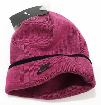 af3394ea229 Nwt Nike Girl s Tech Fleece Beanie Winter Hat Vivid Pink   Black Size 4 - 6X