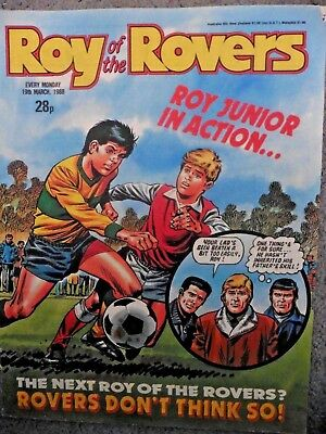 Roy Of The Rovers Comic 19/3/1988 Vintage Rare Vgc