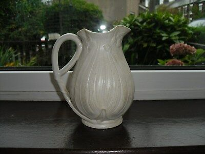 Victorian Jug White Glazed Decorated with Raised Flowers, Size 17(H) x 16cm