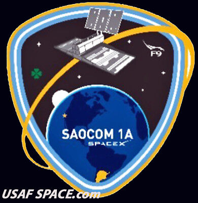 NEW SAOCOM 1A - SPACEX ORIGINAL FALCON 9 VAFB Launch SATELLITE Mission PATCH