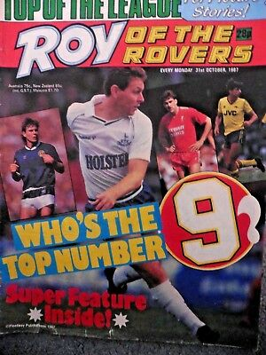Roy Of The Rovers Comic 31/10/1987 Vintage Rare Vgc