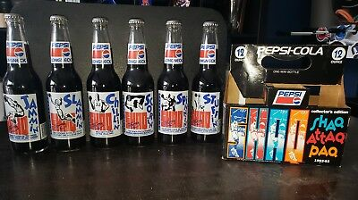 Pepsi-Cola_NBA (1992-'93) SHAQ ATTAQ PAQ [Six Pack] Longneck Soda Bottles (Vtg.)