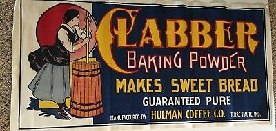Gorgeous Clabber Girl Canvas Banner Small Mint Sign