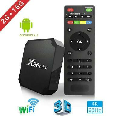 X96MINI Android7.1.2 Nougat Quad Core HDMI 4K Media Smart TV BOX 2+16GB MINI PC