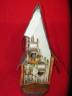 Large Two Story Birdhouse Tin Roof & Old Rustic Barn Wood