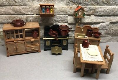 Sylvanian Families Vintage Home Sweet Home Kitchen Set Accessories