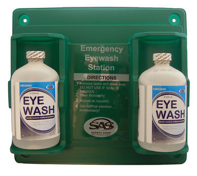 Emergency Eyewash Station Personal Dual Bottle Style