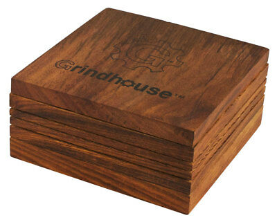 """Grindhouse Wood Pollen Box w/ Magnetic Lid - 5""""x5"""""""