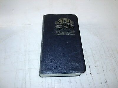 1922 Automobile Blue Book WITH ORIGINAL BOOK MARK and foldout map ! ~make offer~