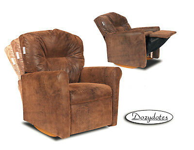 Child Rocking Chair Recliner - Brown Bomber