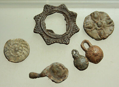 Lot of Ancient Roman Lead Artifacts