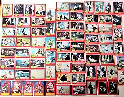 Vintage 1977 Star Wars Topps Complete Trading Card Set & Stickers Series 2 Red B