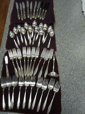 International Silver Prelude Sterling Flatware 44pcs,serve10 no mono