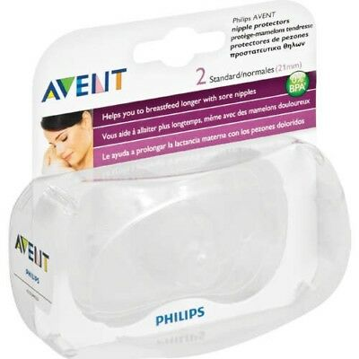 Philps Avent 2 Standard Nipple Protectors(21 MM) Brand New