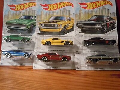 2018 Hot Wheels Muscle Car 6 Car Set Wal Mart Exclusive Chevy