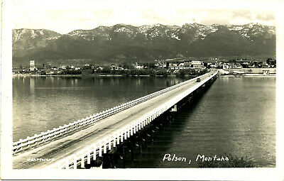 "MT Montana: ""Polson"" Unposted JW Meiers Real Photo RPPC Card"