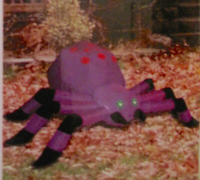 4 FT. Outdoor Inflatable Purple Blow-Up Spider - NIB