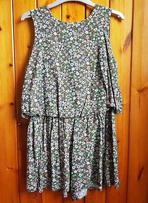 Next girls floral playspuit size 12 years Colour Green