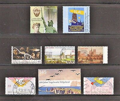 Germany -- 8 diff used commemoratives from 2009-10 -- cv $8.70
