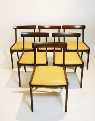 Set Of 6  Rungstedlund Chairs In Mahogany And Leather  By Ole Wanscher