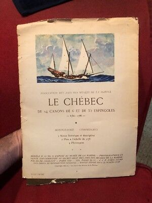 LE CHÉBEC, 24 Cannons of 6 and 35 Espingoles, 1750-1786 Ship Prints and History