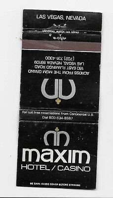 Vintage Matchbook Cover Advertising The Maxim Hotel/Casino in Las Vegas, Nev.