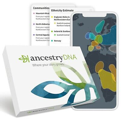 AncestryDNA Genetic Testing - DNA Ancestry Ethnicity Test Kit Sealed
