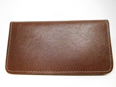 Bay State Exclusive Russet Genuine Leather Standard Checkbook Cover-Made In USA