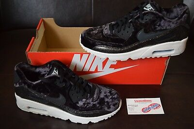 9f7005b6e9 New Girl's Nike Air Max 90 Pinnacle QS Sz 6.5Y GS Black Glitter AH8287-