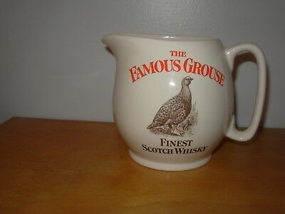 The Famous Grouse Finest Scotch Whisky Pub Water Jug By Wade Pottery England