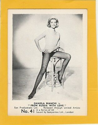 James Bond 007  Cards Somportex Ltd From Russia With Love No.41 Daniela Bianchi