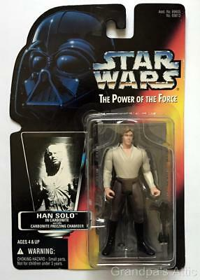 Star Wars POTF Red Card ~ HAN SOLO Carbonite Freezing Chamber  ~ 1996 Figure