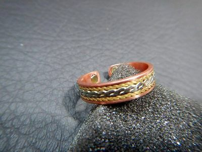Vintage Ring AVON BRAND Tri-Tone Copper Magnetic Ring In Original Box