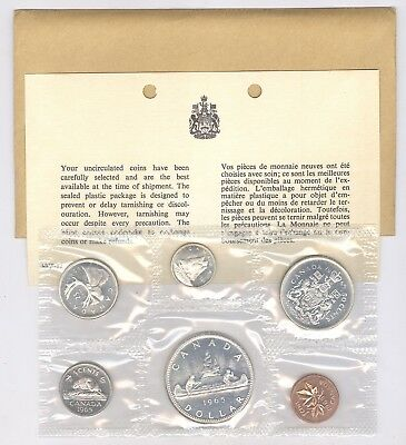 1965 Canadian Uncirculated Mint Set ~ 6 Coin Set !!